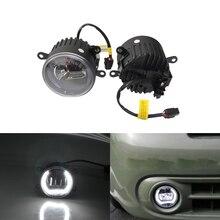 Ксеноновые Белый Передний Авто светодио дный противотуманных фар тяга W/Руководство Halo Кольцо DRL E4 CE для Benz Sprinter 208-515 06-12 стайлинга автомобилей