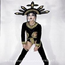 Пикантные Для мужчин Готический Стиль Сиамские DS DJ Костюмы для ночного клуба пикантные женские вечерние сцены костюм для танцев Одежда