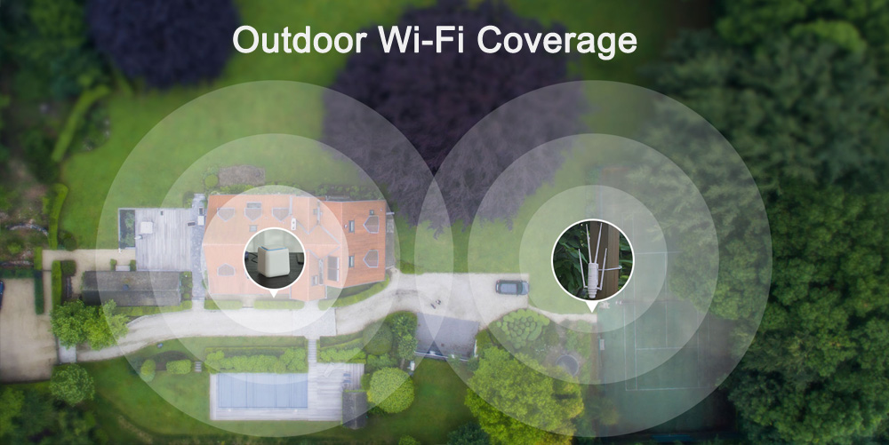 Wavlink AC1200 High Power Wi-Fi Outdoor AP/Repeater/Router with PoE and High Gain 2.4G&5G Antennas wifi range extender amplifier