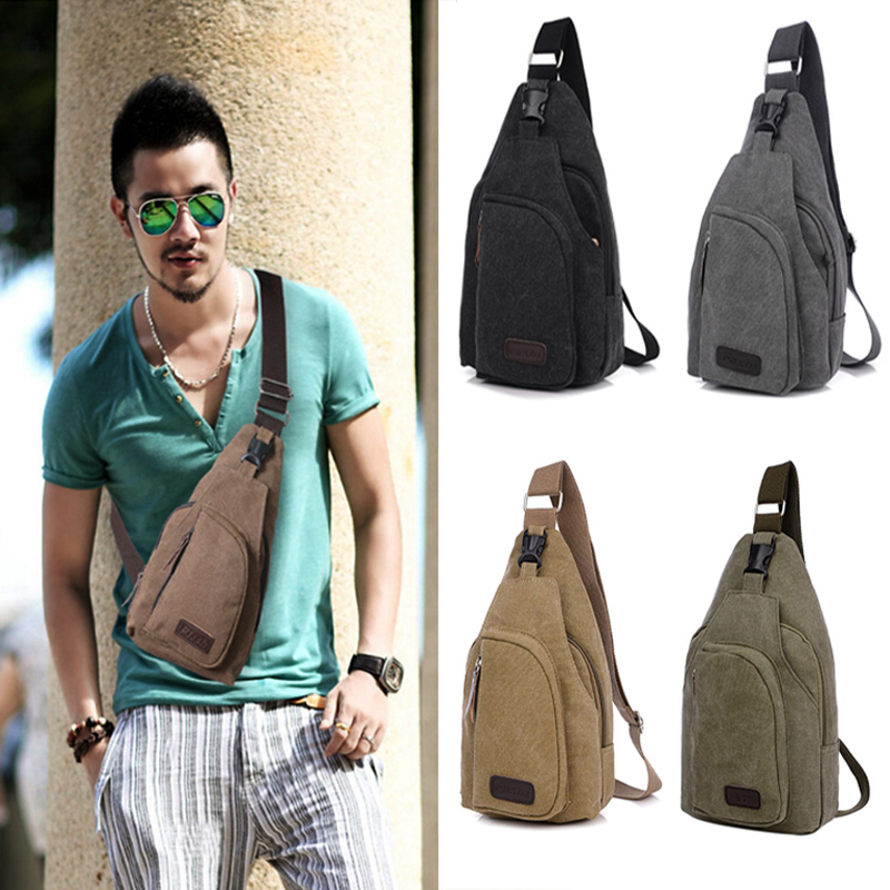 Outdoor Sport Canvas Unbalance Backpack Crossbody Sling Bag Shoulder Chest Fs In Climbing Bags From Sports Entertainment On Aliexpress