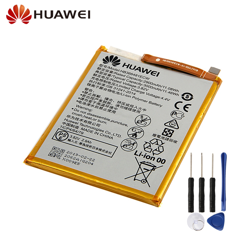 Huawei Original Replacement Battery HB366481ECW For Huawei Enjoy 7S 8 8E Honor 5C 7C 7A Nova Lite 3E GT3 Phone Battery 2900mAh