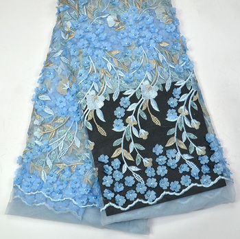 Latest 100% high quality Excellent Flowers Tulle wedding lace for Luxury Nigeria Wedding