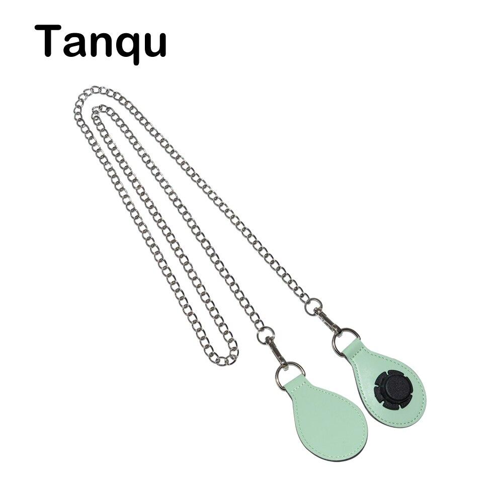 TANQU Silvery Shoulder Chain Strap with 12 Color PU Drop Shape Attachment for Obag O basket Strap Chain for O Bag Obasket стоимость