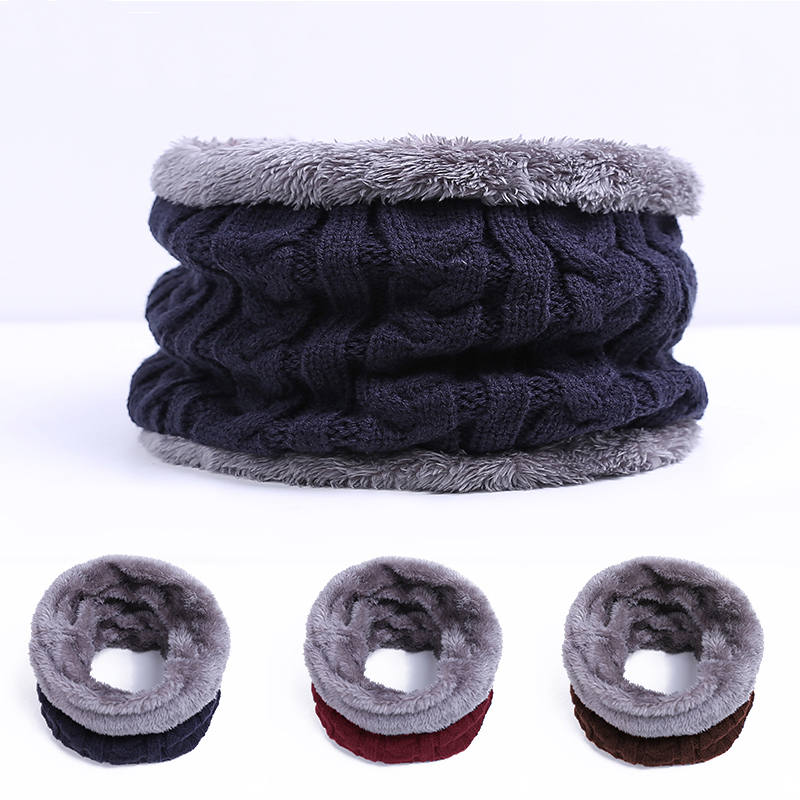 New Fashion Warm Winter Scarf Man Thickened Wool Knitted Collar And Scarf For Man Bufanda Cotton Echarpe Drop Shipping