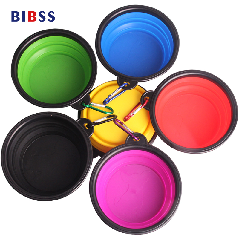 Silicone font b Pet b font Water Feeding Dogs Bowls For Cats Puppy Foldable Collapsible Containers