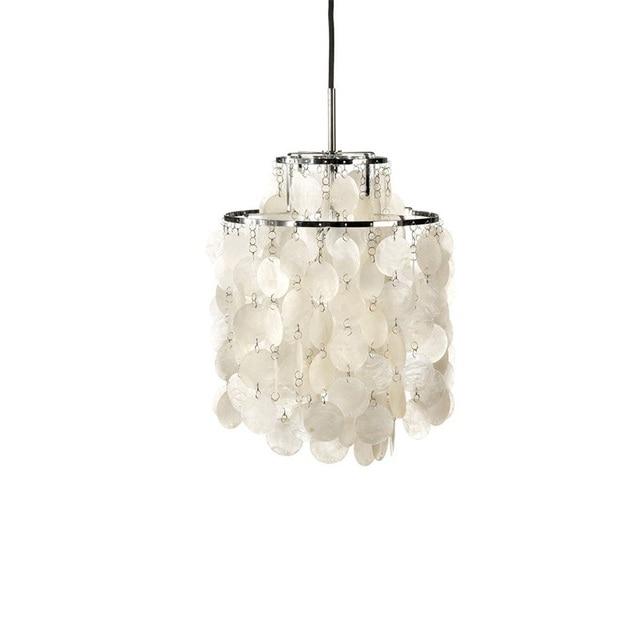 Fun 2 DM Pendant Lights For Vemer Panton White  Shell Lampshade Pendant Lamp Suspension Bar Restaurant Bedroom Fixtures L7