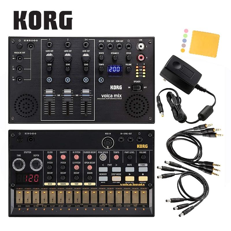 Korg Volca Beats Analogue Drum Machine Bundle With Korg Volca Mix And Polishing Cloth [Volca Beats+Volca Mix+Polishing Cloth]
