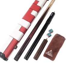 CUESOUL 57 18 oz 1 Piece Handmade Snooker Cue with Aluminum Telescope Extension & Case With Chalks ,Cue Towel