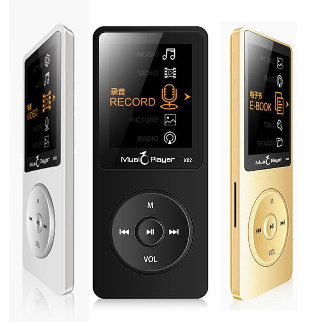 IQQ X02 8 GB MP3 Digital Sin Pérdidas Flac Hifi Audio Deporte pantalla Reproductor de Música Mp3 Con Los Auriculares de Radio FM Grabadora de Voz altavoz