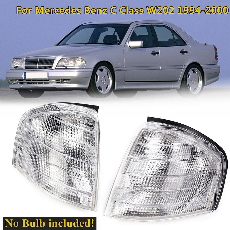Clear Turn Signal <font><b>Led</b></font> Lamps Mirror Auto Corner Lights For Mercedes Benz C Class <font><b>W202</b></font> 1994-2000 Car Modification Accessories image