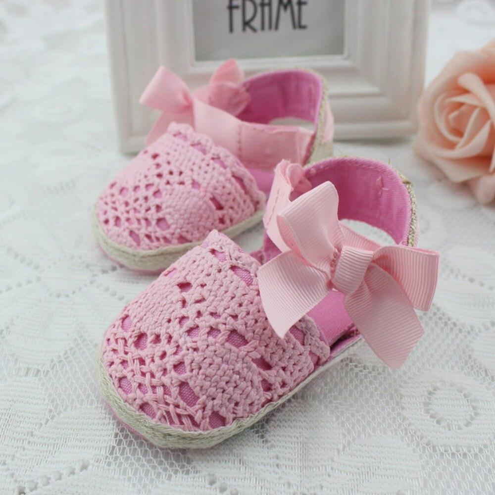 Summer Newborn ShoesToddler Knitting Baby Loafers Girls Kid Strap Crib Baby Shoes