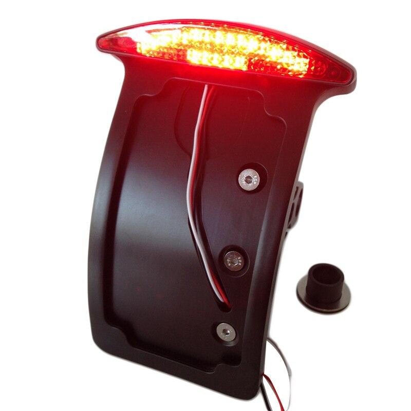 Мотоцикл изогнутые сбоку мотоцикла лицензионной сборки пластины LED хвост тормоз света черный