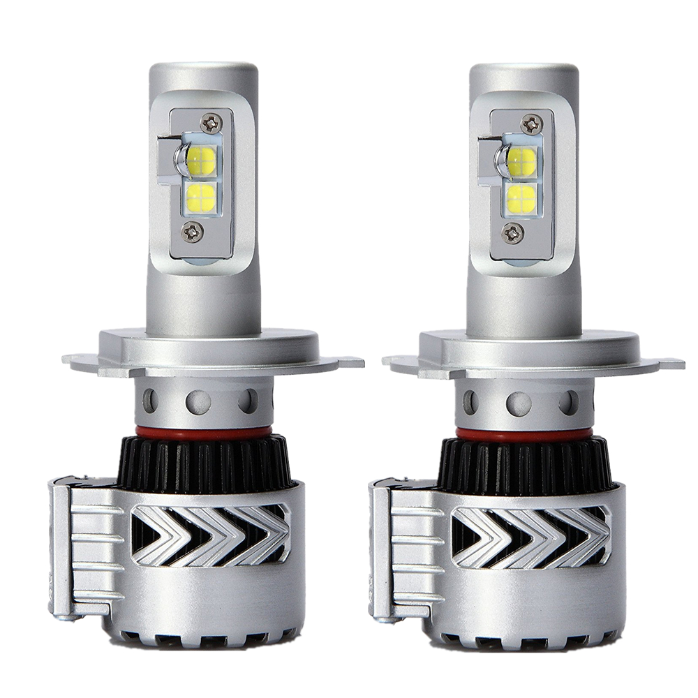1Pair Car LED Headlight H4 Hi Lo Beam 72W Fog Driving lamp LED Headlights Car 9003