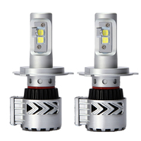 1Pair Car LED Headlight H4 Hi Lo Beam 72W Fog Driving lamp LED Headlights Car 9003 HB2 High Low Beam Bulb Auto Led Headlamps