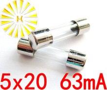 FREE SHIPPING 100PCS x 63mA 250V 5*20mm Toner Cartridges Fuse For Printer Photocopier