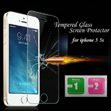 0 26mm Premium Tempered Glass for iPhone 5 5s 5c 9H Hard 2 5D Arc Edge