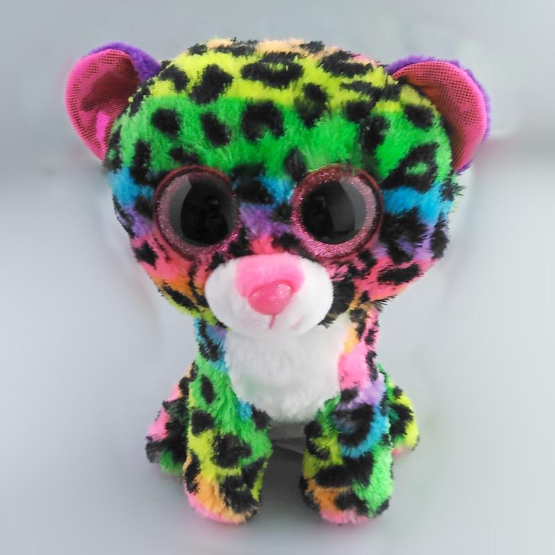 6 15 см Ty Beanie Боос Дотти леопарда плюшевые, мультиколор, регулярные милых животных Игрушечные лошадки подарок для маленьких детей s125