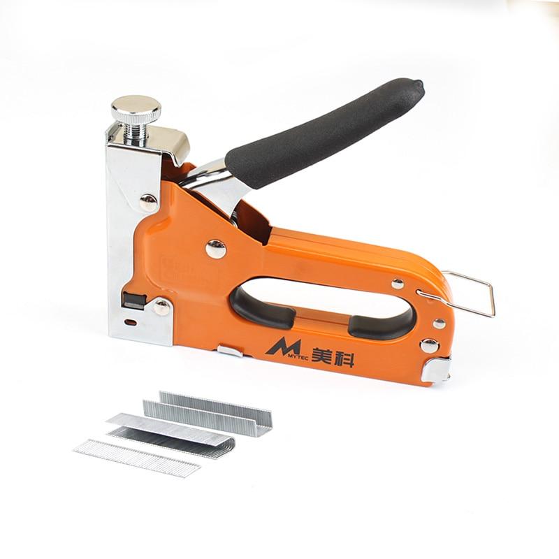 3-way Manual Nail Staple Gun for Wood Door Upholstery Framing Hand Staple Nail Tacker Stapler Gun with 600pcs Nails 1000pcs u shape nails 612u 12mm for hand nail gun nail gun staples nailer stapler