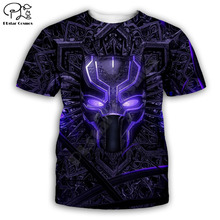 PLstar Cosmos t shirts summer shorts sleeve mens/women t-shirt hip hop top tees Black Panther 3D printed plus size XS-7XL