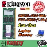 Kingston Notebook Laptop Memory RAM DDR3L 4GB 8GB 1600MHz 204 Pin SODIMM Non ECC Wholesale For