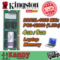 Kingston notebook laptop memory RAM DDR3L 4GB 8GB 1600MHz 204 Pin SODIMM Non-ECC wholesale for Lenovo ThinkPad SONY Acer Dell HP