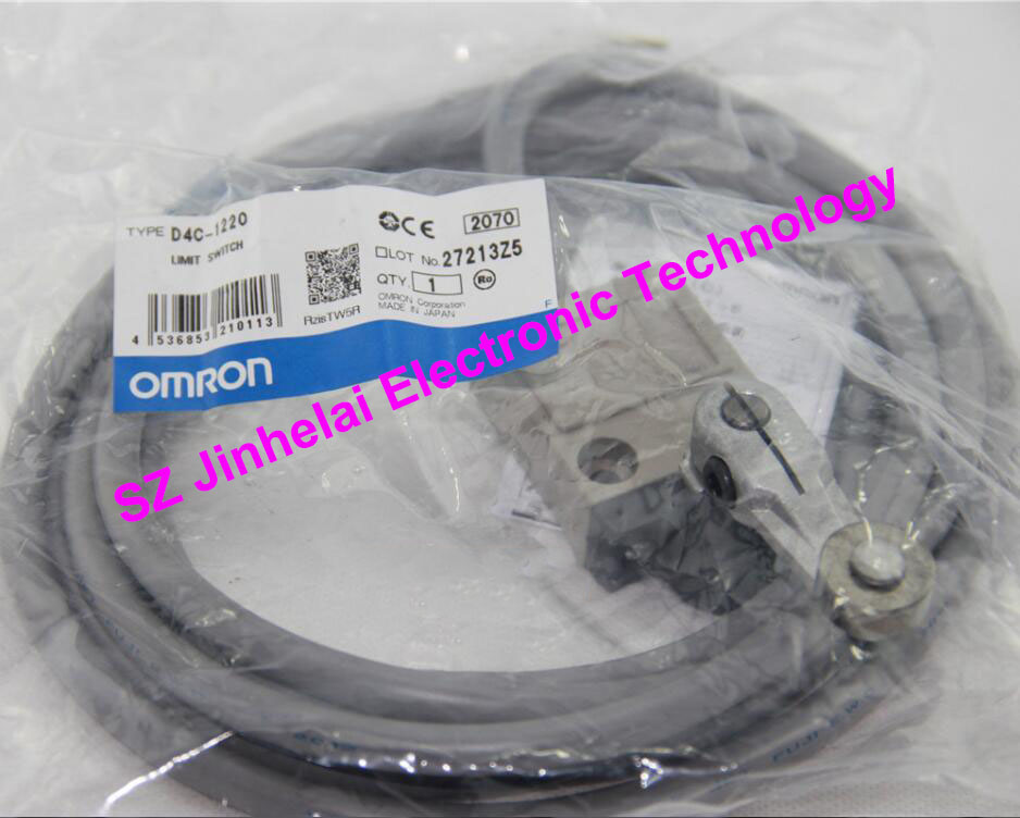 New and original OMRON LIMIT SWITCH D4C-1220 [zob] 100% brand new original authentic omron omron limit switch d4e 1d10n