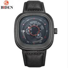 Brand Relogio Masculino Date Day Clock Men Leather Strap Wrist Military Sports Watch Men Fashion Casual Quartz Watches