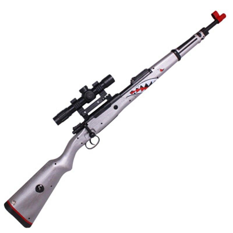 Zhenio juguete KAR98K bola de Gel tirador de bala de agua suave pistola de golpes dardos de patio libre de armas para regalo de Navidad - 3