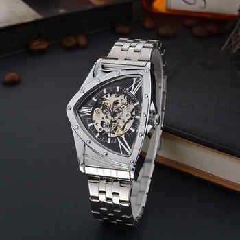 Montre Sport Design Triangle Montre hommes montres haut de gamme Montre Homme de luxe horloge hommes Montre squelette automatique