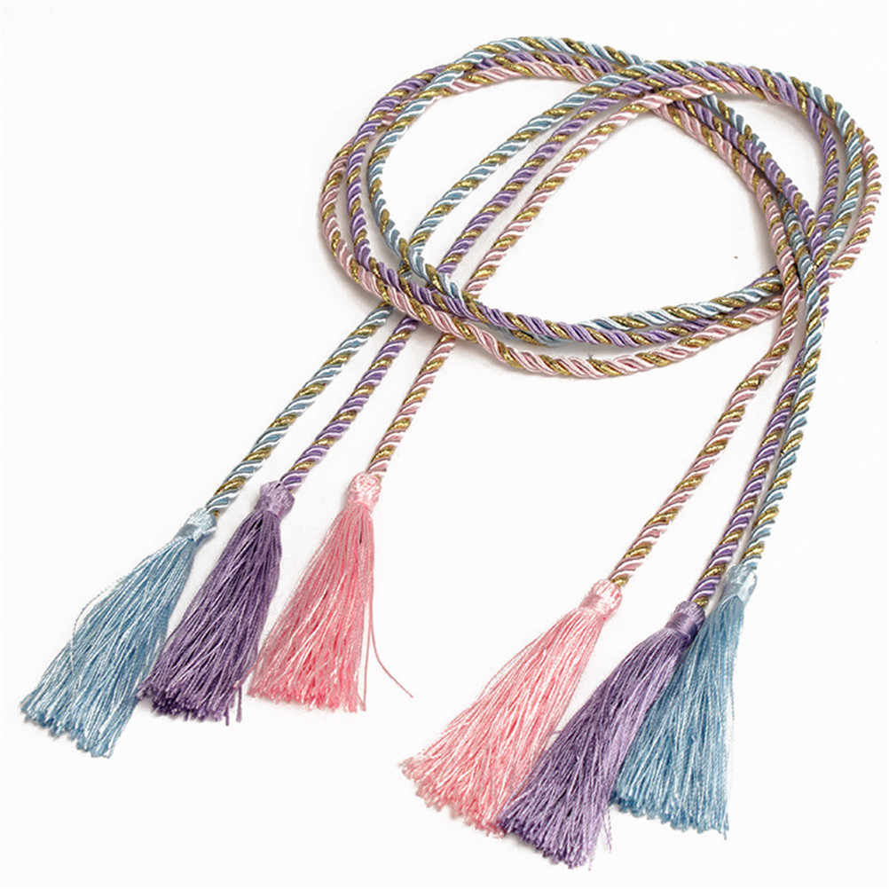 1Pc Simple Style Window Decorating Curtain Tassel Rope Tie Backs Curtain Fringe Tiebacks Home Curtain Holder 10 Colors