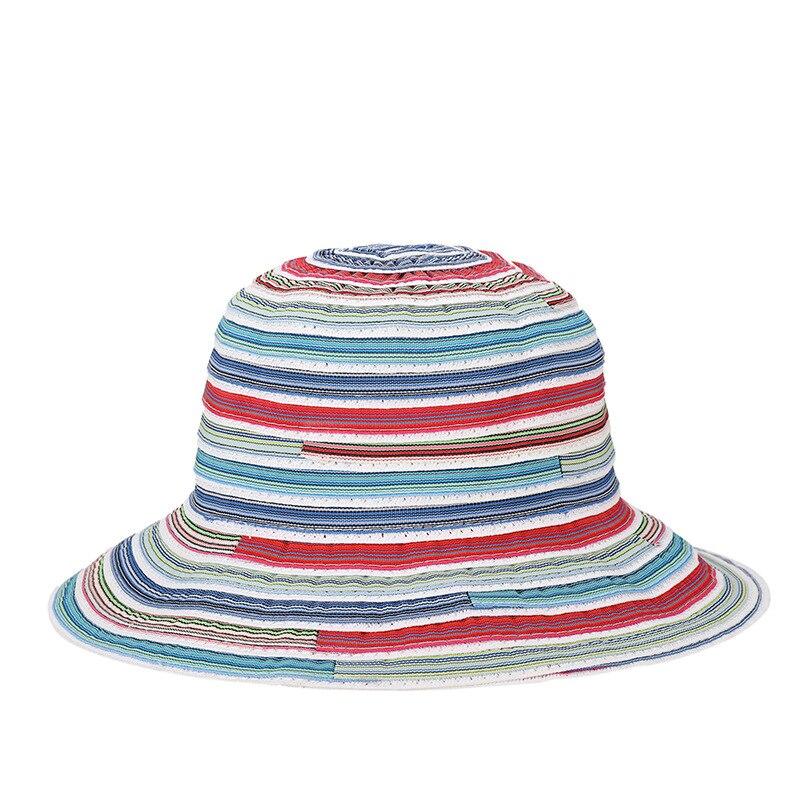 2018 de moda de verano de las niñas de plano elegante sombrero de cubo con Bowknot mujeres tapas de alta calidad Panamá sombreros de sol sombrero al aire libre