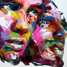 Abstract Men Face Painting Neilly Modern Wall For Living Room Printed Canvas Oil Suppliers