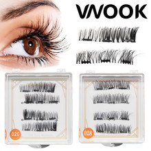3 Magnet 3D Magnetic Eyelashes Magnet Lashes Thicker Reusable False Eyelashes Handmade No Glue Eye Lashes Makeup Kit lashes lift(China)