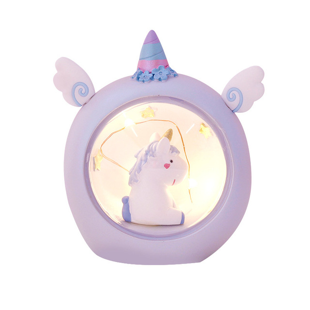 Cute Unicorn Resin Night Lamp
