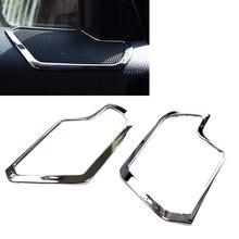 JEAZEA Car Styling 2Pcs New Chrome Car Interior Door Stereo Speaker Cover Trim for Kia Sportage R 2011 2012 2013 2014 2015