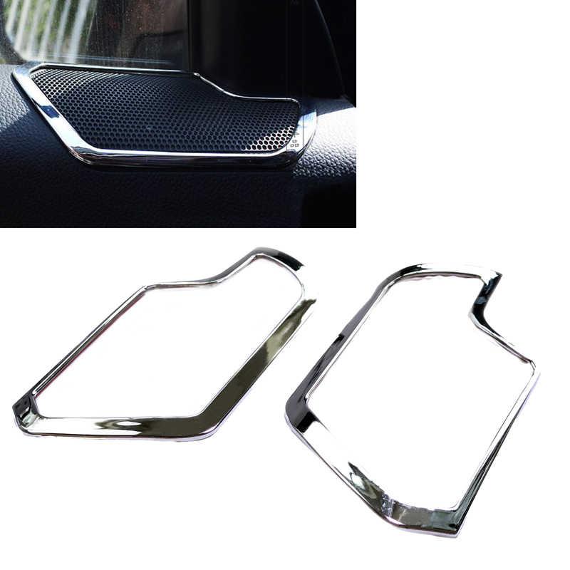 JEAZEA Tạo Kiểu Xe 2 Cái New Chrome Nội Thất Xe Hơi Cửa Loa Stereo bìa Trim cho Kia Sportage R 2011 2012 2013 2014 2015