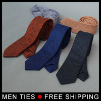 High quality men 6cm dark gray real wool tie boys slim wedding neck ties corbata delgada gravata seda stropdas skinny neckties
