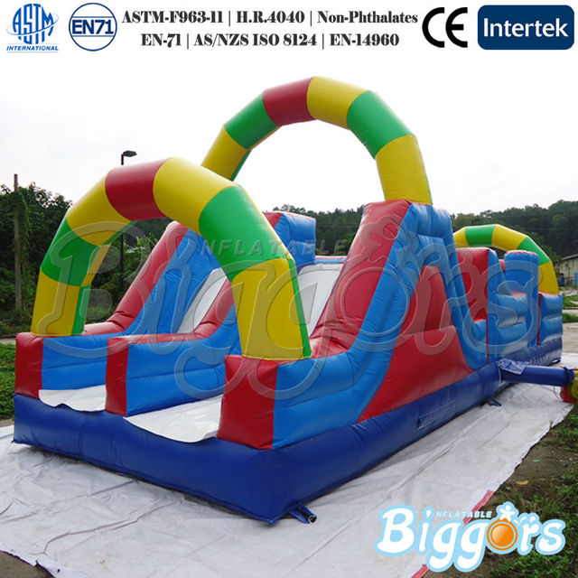 Free Shipping By Sea Inflatable Bounce Huose Obstacle Course For Kids