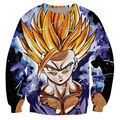 Espírito adolescente camisola impressão 3d suores homens adolescentes gohan super saiyan dragon ball z moda clothing outfits jumpers