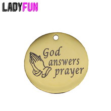 Ladyfun Stainless Steel God Charms-God Answers Prayer Charm for jewelry making