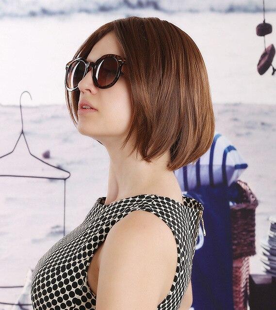 Dark Brown Blode Natural Short Hair Wigs Fashion Womens Rinka