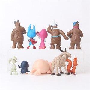 Image 5 - 10 Pezzi/set Russia Masha e Orso Giocattolo Figura Bambola Decorazione Della Casa Masshe Action Figure Creativo Masha Orso Bambola Regalo Per bambini