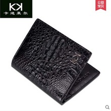 KADILER 2017 new hot free shipping Import alligator wallets men genuine leather wallet  short  business casual wallet vertical