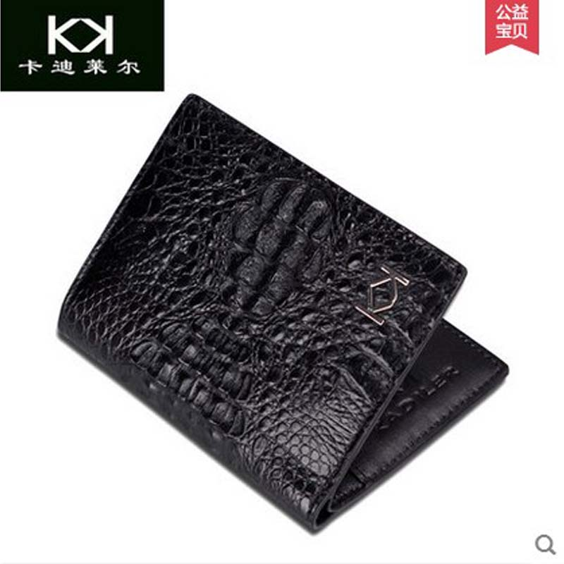 KADILER 2018 new hot free shipping Import alligator wallets men genuine leather wallet  short  business casual wallet vertical free shipping 10pcs 5359 a ncp5359ad ncp5359adr2g sop8 patch import new home furnishings