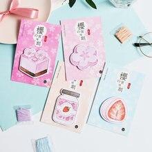 Стикер для меток kawaii sakura пудинг стикер маркеры Закладка