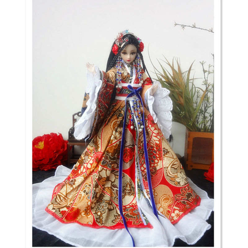 32 cm BJD Doll Collectible Chinese Girl Dolls With 12 Joint Movable Unique Handmade Pretty Girls Toys for Kids/Friends handmade 18 inch girl doll plastic toy dolls for girls toy gifts 45cm princess dolls bjd doll with red dress and shoes