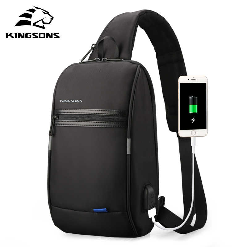 Kingsons Men Chest Bag nuevo bolso bandolera Anti-thief repelente al agua hombres bolsos de hombro 9,7 pulgadas Ipad bolsos de moda