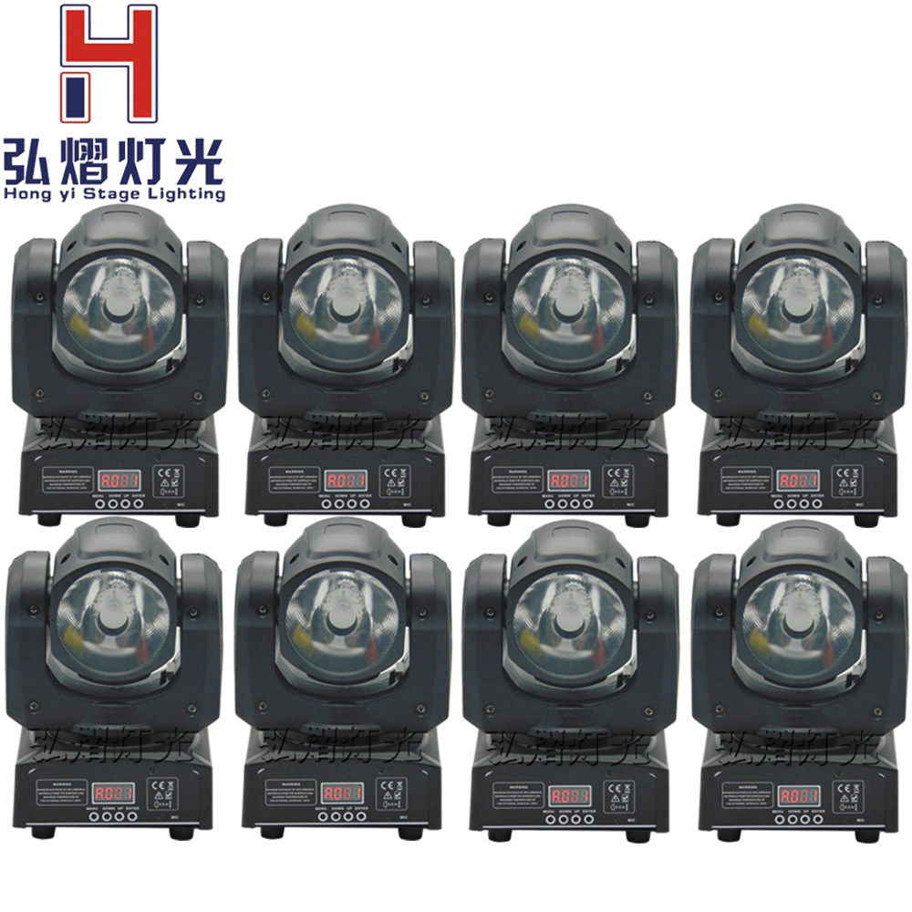 8 Pcs/lot Beam Led Moving Head Light Beam 60W rgbw 4in1 Beam Led 10/13DMX Channels Stage Lighting DJ /Disco/Clubs/ KTV/Pub Light