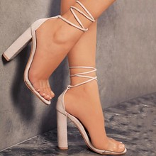Summer Woman Pumps Shoes High Heels T-stage Sexy Dance Party Wedding Fashion Solid Ladies Cross-tied Zapatos De Mujer P25