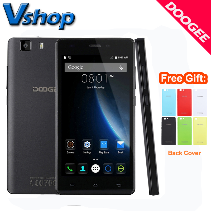 Original DOOGEE X5 3G Mobile Phone Android 5.1 1GM RAM 8GB ROM MT6580 Quad Core 720P 8.0MP Camera Dual SIM 5.0 inch Cell Phone